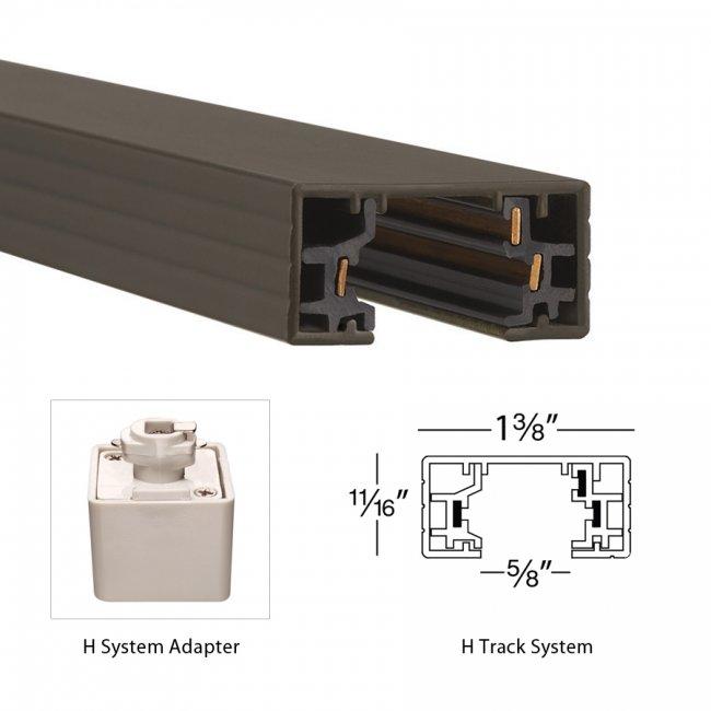 H Track 120v Single Circuit Track Section Wac Lighting