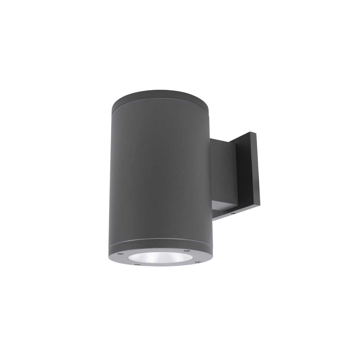 Away from Wall 3500K WAC Lighting DS-WS05-F35A-BK 5-Inch Single Side Tube Arch Wall Mount