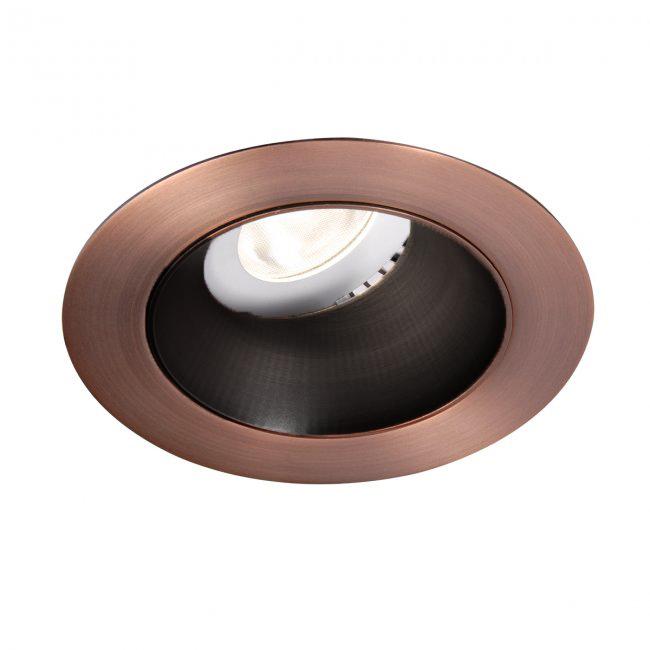 WAC Lighting HR3LEDT118N27HZ//CB Tesla 3.5 LED Round Open Reflector Trim with Light Engine 2700K Narrow Beam, 80+ CRI Haze//Copper Bronze